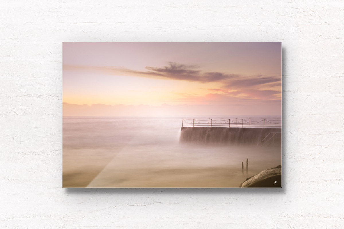 Fine Art Photography Print. Angelic sunrise at the famous Bondi Icebergs, Bondi Beach