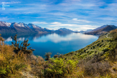 Stunning view from Bennetts Bluff overlooking Lake Wakitipu, New Zealand