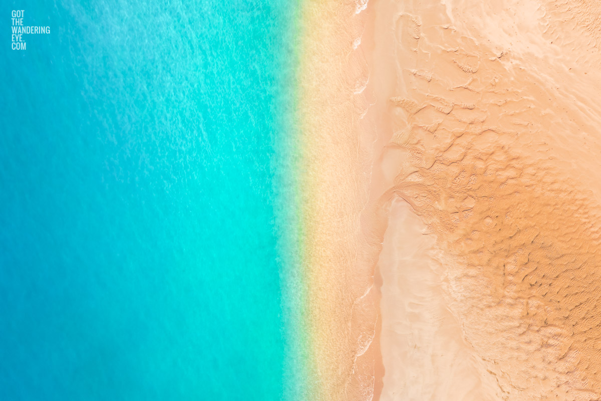 Aerial oceanscape above a south coast nsw beach