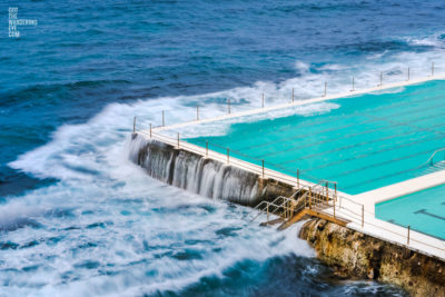 Famous, Bondi icebergs, long exposure of empty swimming pool.
