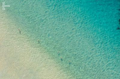 Swimmers enjoying the crystal clear water in Summer at Bondi Beach, Sydney