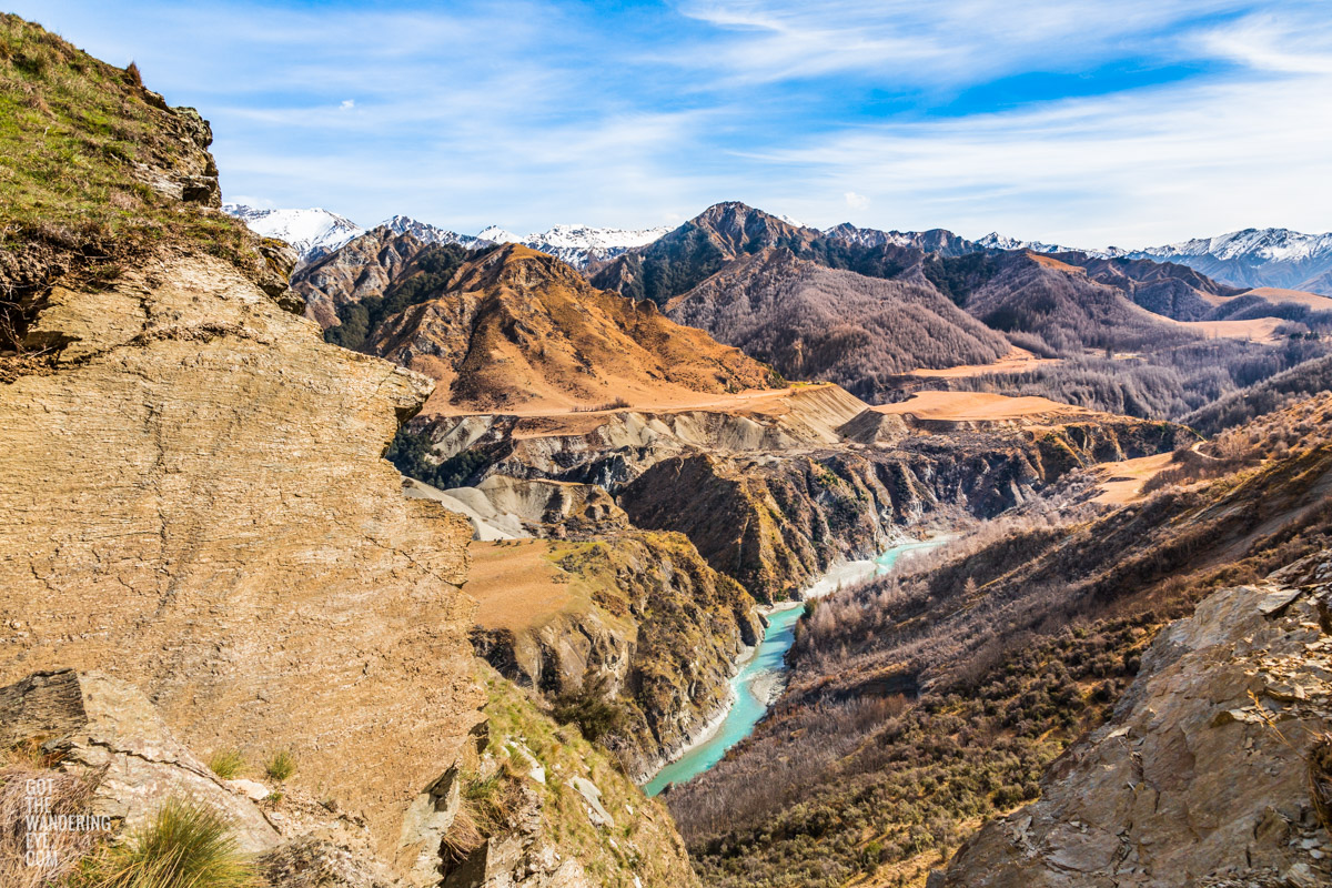 Skippers Canyon, one of New Zealand's richest gold-bearing rivers.