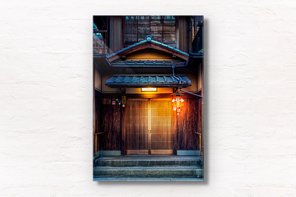 Japanese ochaya (tea house) in the geisha district in Gion, Kyoto