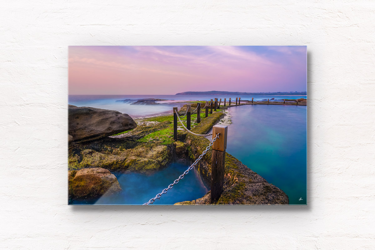 Fine Art Photography. Long exposure of early morning sunrise at Mahon Pool, Maroubra.