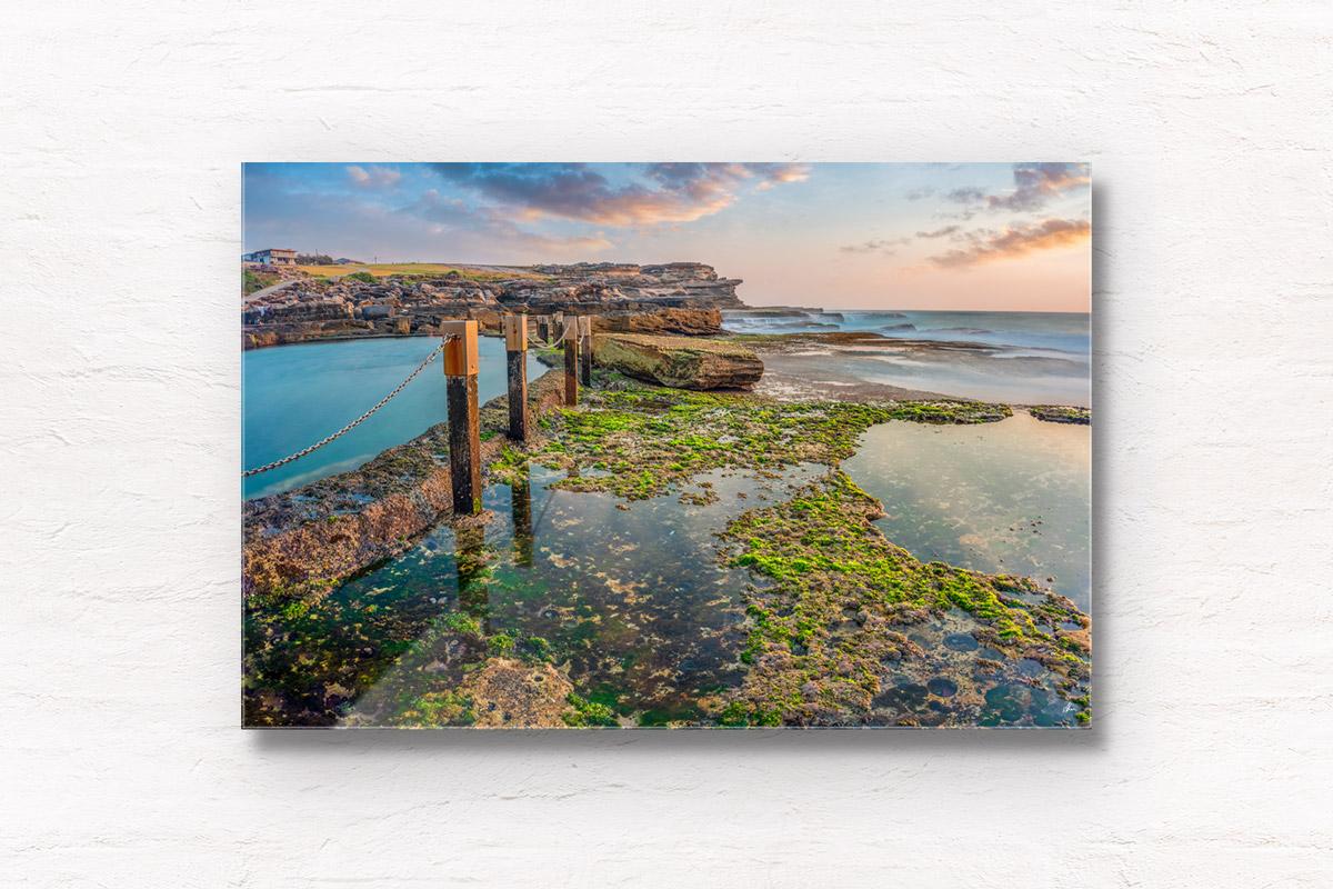 Fine Art Photography. Long exposure of early morning sunrise at Mahon Pool, Maroubra.