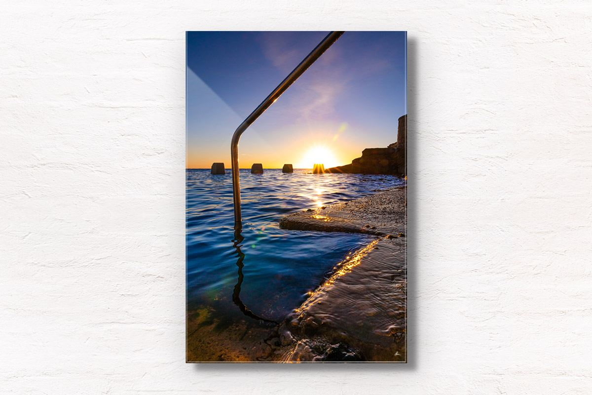 Fine Art Photography. Beautiful sunrise above Ross Jones Memorial Pool in Coogee