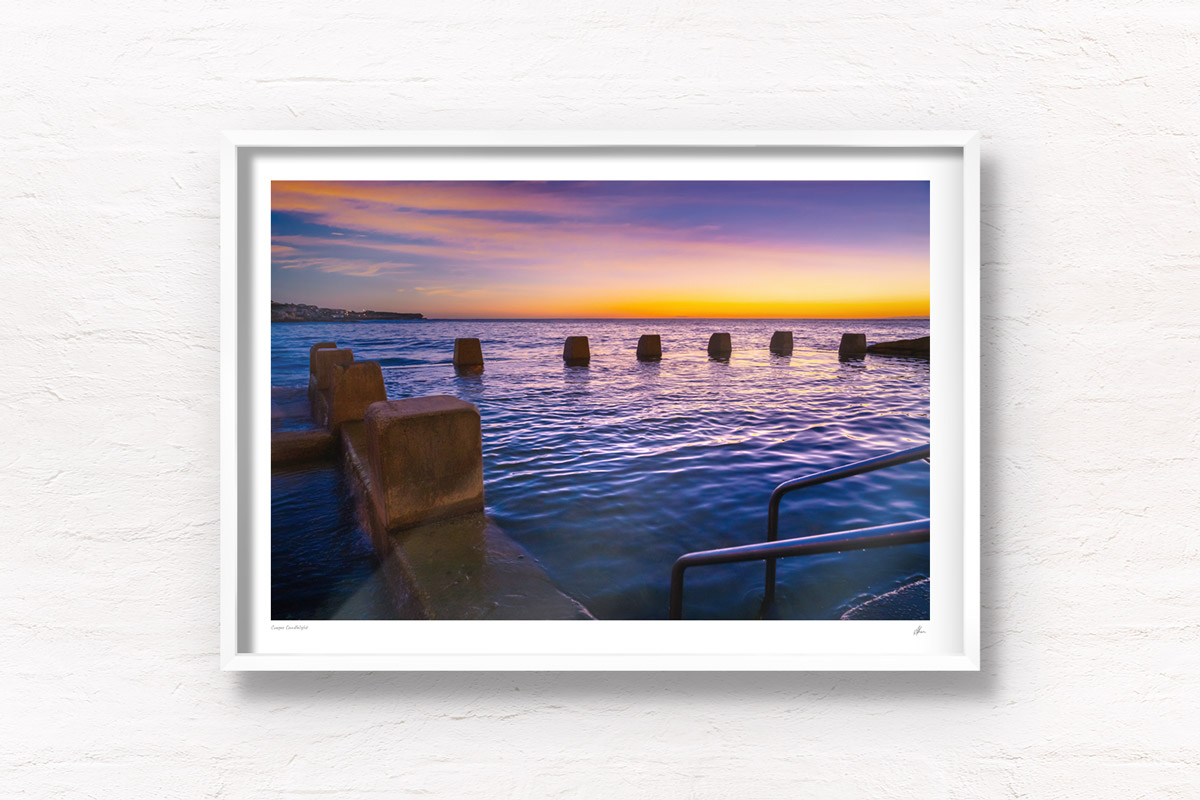 Purple Sunrise at Ross Jone Memorial Rockpool Coogee