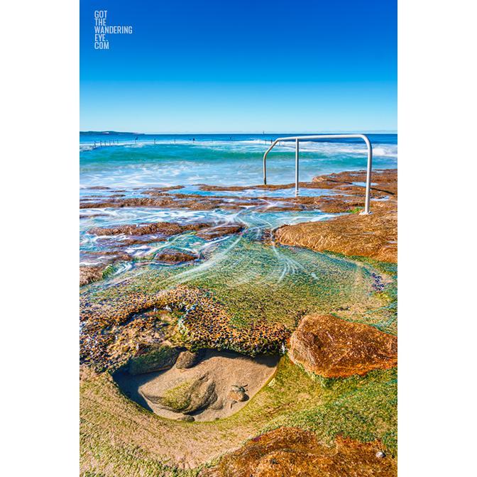 Crystal clear waters of North Cronulla Rock Pool, Cronulla Beach
